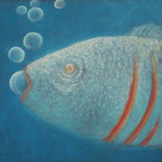 fanny-orge-pastel-eau-nager-respirer-poissons-branchies-ocean-poisson-bouche-ouverte