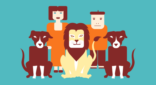 le-lion-amoureux-fable-la-fontaine-photo-de-famille