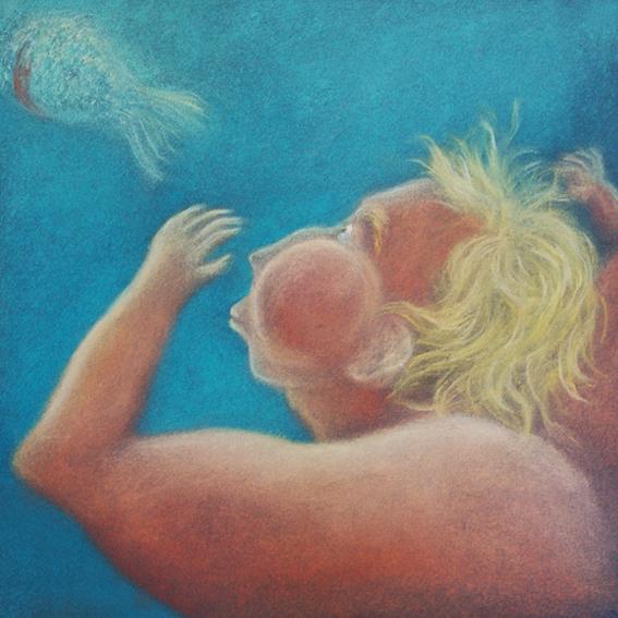 fanny-orge-pastel-eau-nager-respirer-poissons-branchies-ocean-poisson-suivre