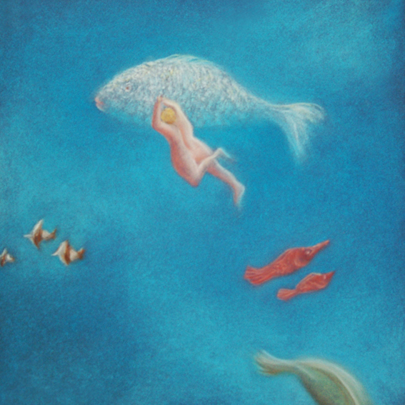 fanny-orge-pastel-eau-nager-respirer-poissons-branchies-ocean-poisson-suivre-4