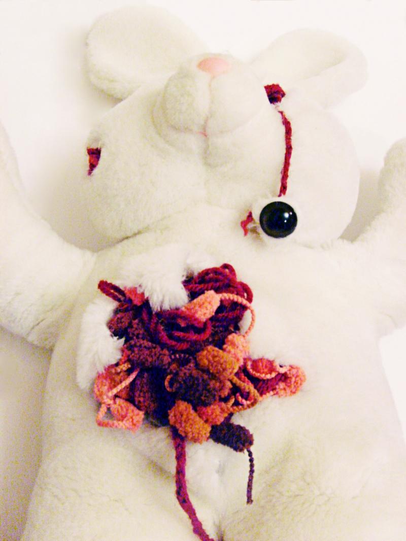 fanny-orge-lapin-esthetique-de-l'horreur-laine