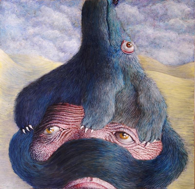 fanny-orge-peinture-imprimature-chapeau-bête