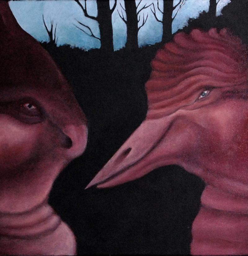 fanny-orge-peinture-ecorches-lievre-oiseau-foret